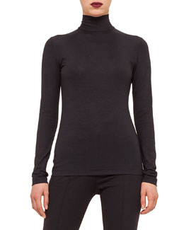 Modal Jersey Turtleneck Top