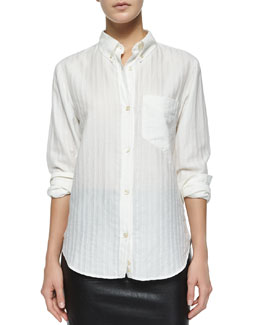 Ninon Shadow-Stripe Blouse