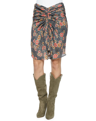 Sevan Floral-Print Skirt