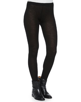 Jazy Knit Wool Leggings