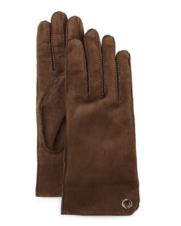 Jacq Suede Short Gloves