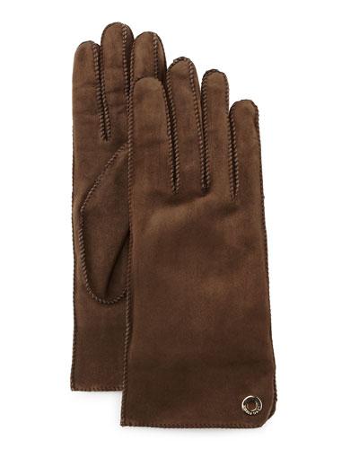 Jacq Suede Short Gloves