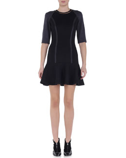 Interlock Jersey Flounce Dress