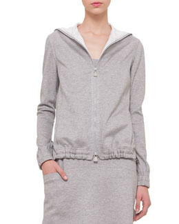 Bicolor Reversible Hooded Sweatshirt