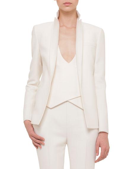 Double-Faced Blazer-Style Jacket