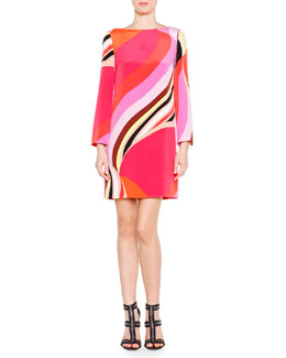 Twirl Striped Cady Shift Dress