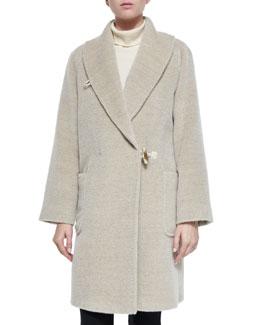 Alpaca-Blend Shawl-Collar Toggle Coat