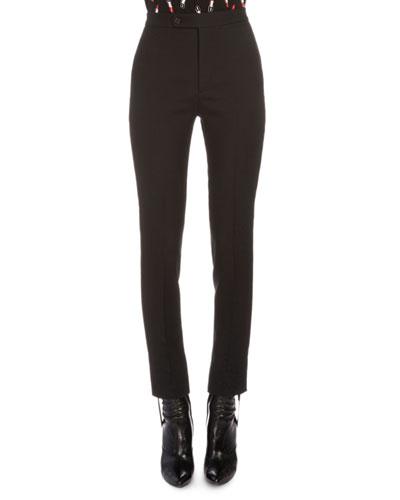 Tuxedo-Stripe Skinny Pants