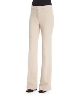 Shetland Flare-Leg Trousers, Oatmeal