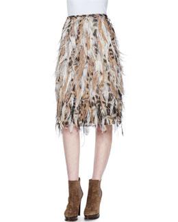 Natalia Beaded Feather Skirt