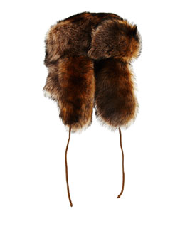 Suede & Shearling Fur Trapper Hat