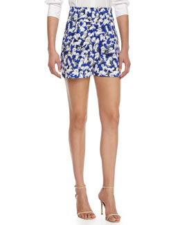 High-Waisted Gaspar-Print Shorts