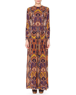 Medallion-Print Wide-Leg Jumpsuit