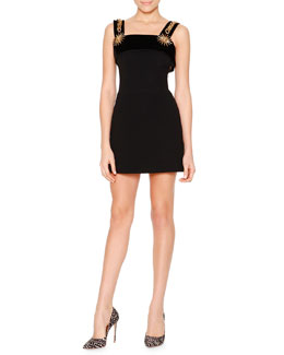 Hardware-Detailed Cady Mini Dress