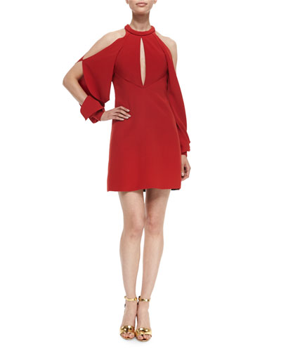 Keyhole Cold-Shoulder Cocktail Dress