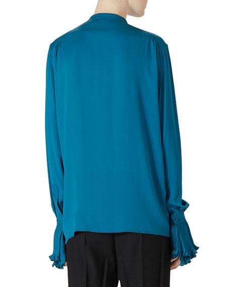 Gucci silk button down shirt wool menswear pant for Silk button down shirt