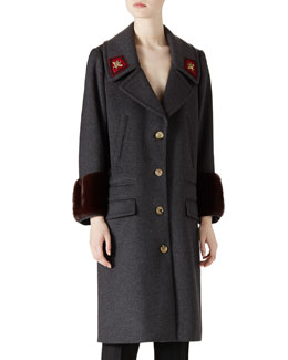 Wool & Mink Overcoat
