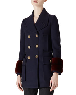 Wool-Cashmere & Mink Coat