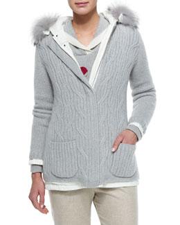 Mckinley Windmate Fur-Trimmed Reversible Jacket