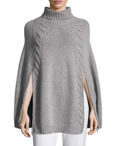 Wool/Cashmere Knit Sweater Poncho