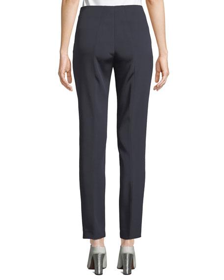 Melissa Silk Marocain Pants, Navy