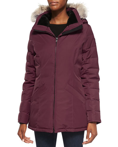 Belmont Fur-Hooded Down Coat