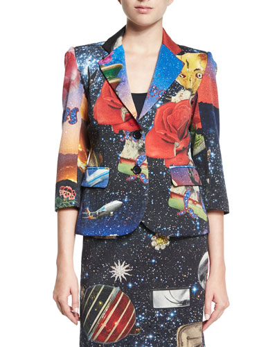 Starry Night Two-Button Blazer