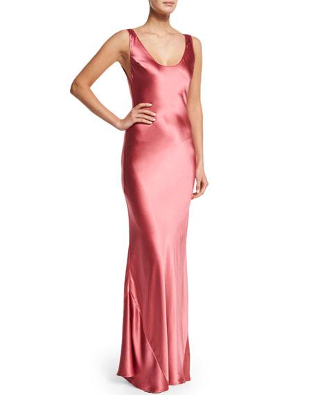 9035c25a6f3 Galvan Silk Scoop-Neck Slip Dress