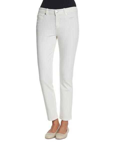 Mathias Cotton-Blend Pants, White