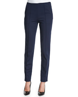 Cotton Techno Skinny Pants, Dusk