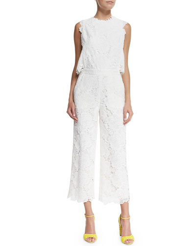 Sleeveless Guipure Lace Jumpsuit