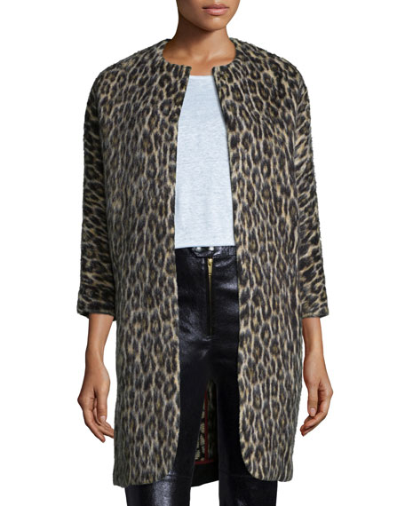 ee0b2ebf7d Isabel Marant Leopard-Print 3/4-Sleeve Coat
