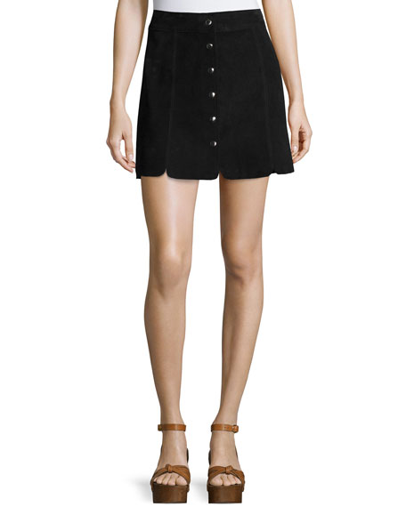 e1c56a5df0 Etoile Isabel Marant Anna Suede Button-Down Skirt