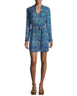 Seen Floral-Print Silk Chiffon Dress