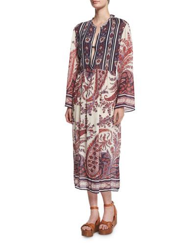 Tilda Paisley-Print Tunic Dress