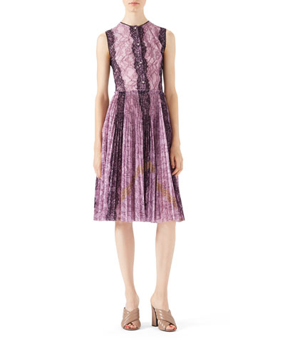 Bonded Lace Georgette  Dress