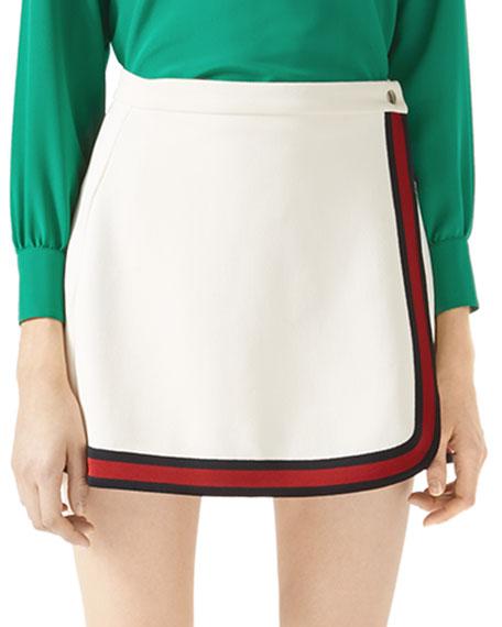 Felted Jersey Wrap Skirt