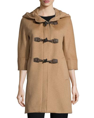 Alpaca-Blend Toggle-Front Jacket, Camel