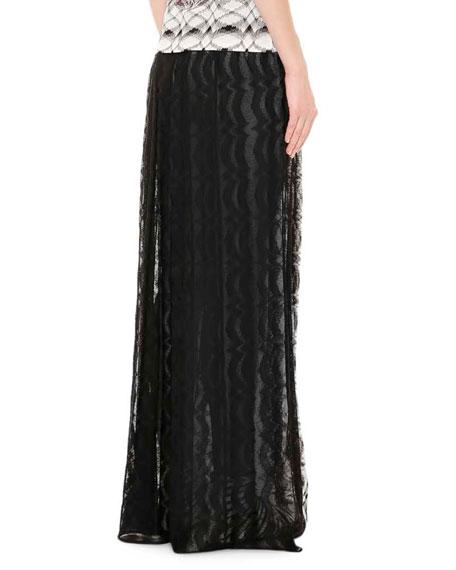 missoni stereo knit maxi skirt black white
