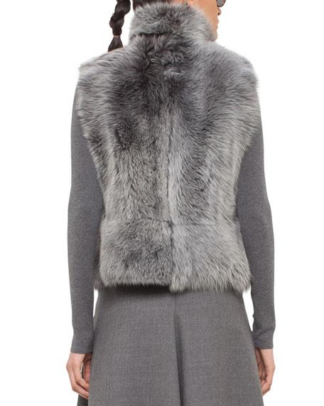 Reversible Toscana Lamb Fur Vest, Cliff