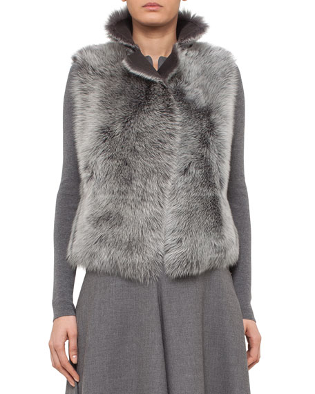 Reversible Toscana Lamb Fur Vest, Cliff