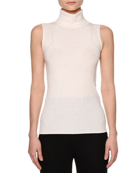 Callens Multi-Rib Sleeveless Turtleneck Sweater