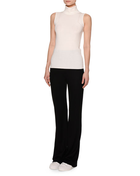 High-Waist Jersey Wool Pants