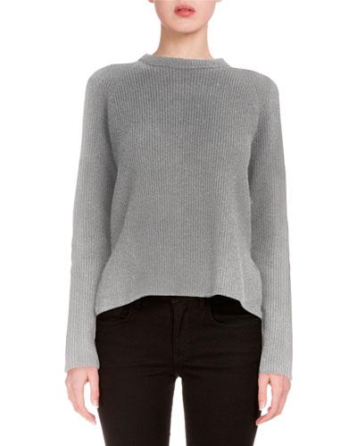 Long-Sleeve Side-Tie Sweater