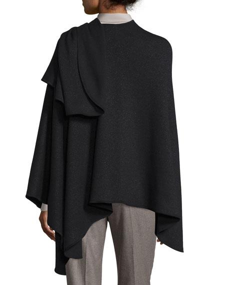 Regina Leather-Trim Cashmere-Blend Cape