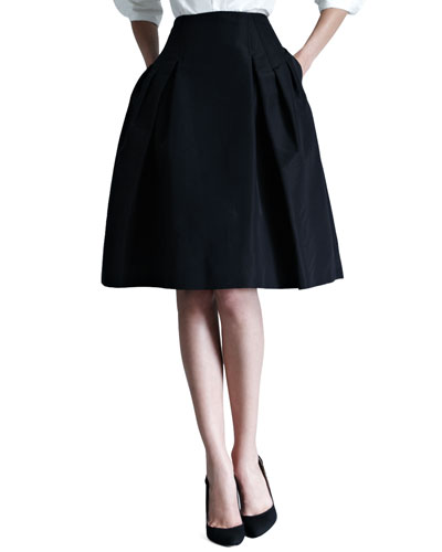 Silk Faille Party Skirt