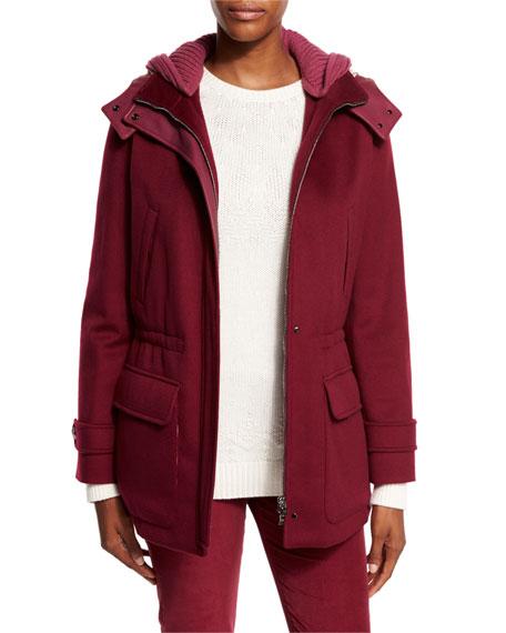 Loro Piana Everett Cashmere Storm System Jacket, Raspberry