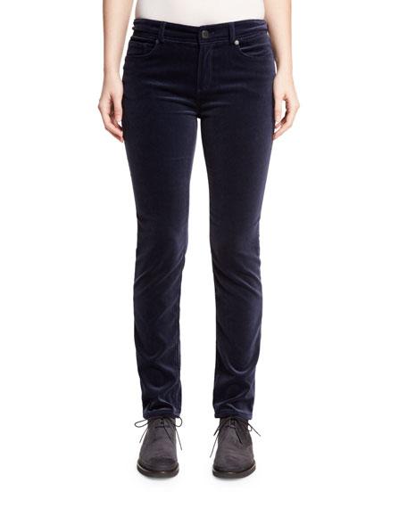 Mathias Velvet Skinny Jeans, Ocean Waves Navy