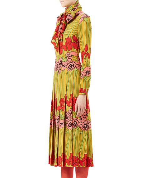 Soleil Iris Silk Dress, Multi