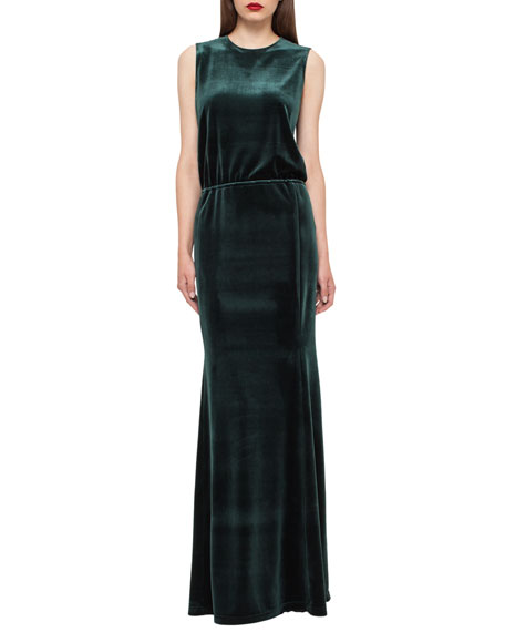 Velvet Column Gown, Goodwood Hunter